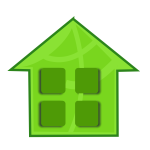 Vector clip art of green home