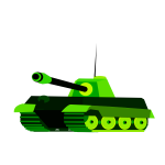 Green tank vector drawing