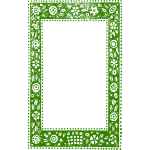 Green frame ethnic pattern