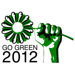 Go green political party symbol vector image