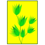 Green flower vector image