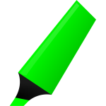 Vector drawing of green highlighter
