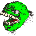 Vector graphics of green horror beast