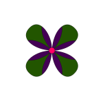 greenpurpul flower