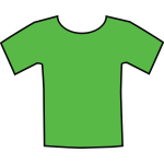 Green t-shirt vector graphics