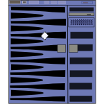 SunFire 2900 server vector image