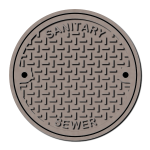 Maintenance holeaintenance hole cover large vector drawing