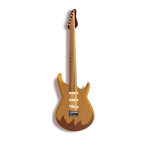Wooden guitar vector illustration