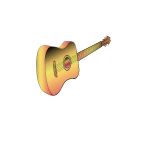 Acoustic guitar vector graphics
