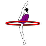 Image of gymnastics archery performer