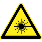 Radioactive hazard warning sign vector image