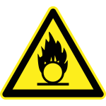 Flammable hazard warning sign vector image