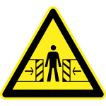 Sliding door hazard warning sign vector image
