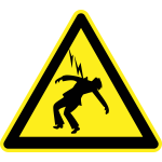 Thunder hazard warning sign vector image
