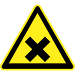 Harmful hazard warning sign vector image