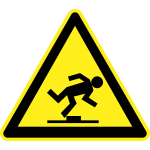 Watch your step warning sign vector image