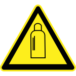 Bottle under pressure hazard warning sign vector image