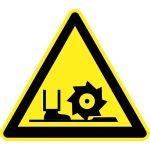 Rotating blade or cutter warning vector sign
