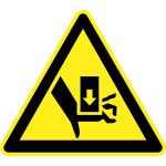 Danger of heavy objects hazard warning sign vector image