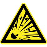 Explosives hazard warning sign vector image