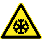 Freezing hazard warning sign vector image