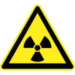 Radiation hazard warning sign vector image
