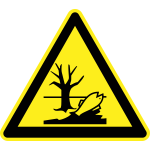 Pollution hazard warning sign vector image