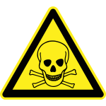 Fatal hazard warning sign vector image