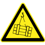 Heavy load hazard warning sign vector image