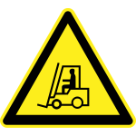 Forklift hazard warning sign vector image