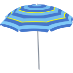 Blue beach umbrella vector image