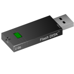 2GB flash disk vector image