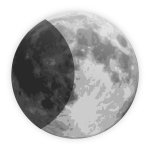 Vector image of weather forecast color symbol for half moon