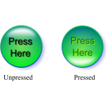Unpressed and pressed button.