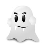 White Halloween ghost vector illustration