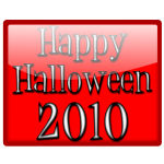 Vector illustration of happy Halloween sign