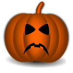 Angry Halloween pumpkin vector illustration