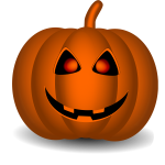 Orange Halloween pumpkin vector clip art
