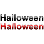 Halloween black and red signs vector graphics