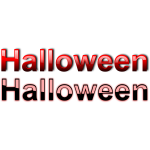 Clean Halloween typography vector drawing