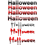 Halloween typography selection vector image