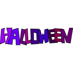 Halloween logo vector illustration
