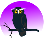 Halloween owl vector clip art