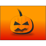 Halloween pumpkin on orange background vector graphics