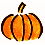 Plain black and orange pumpkin vector image