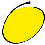 Handwritten circle in yellow