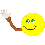 Vector image of happy smiley waving