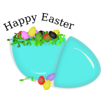 Vector image of bowl of eggs