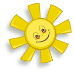 Happy sun vector drawing