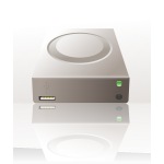 Vector image of external mass storage disk